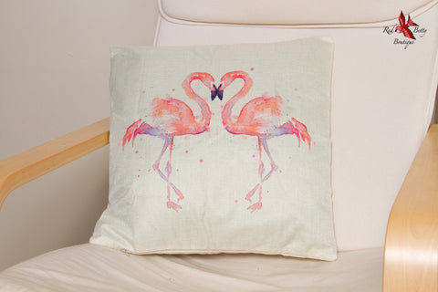 FLAMINGO LOVE CUSHION COVER