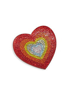 Rainbow Embellished Heart Hair Clip