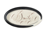 Glass Paperweight with Personalized Calligraphy | Oval