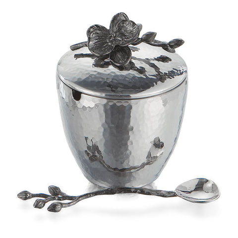 Black Orchid Mini Pot with Spoon