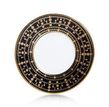 Tiara Black and Gold Dessert Plate 8.7""