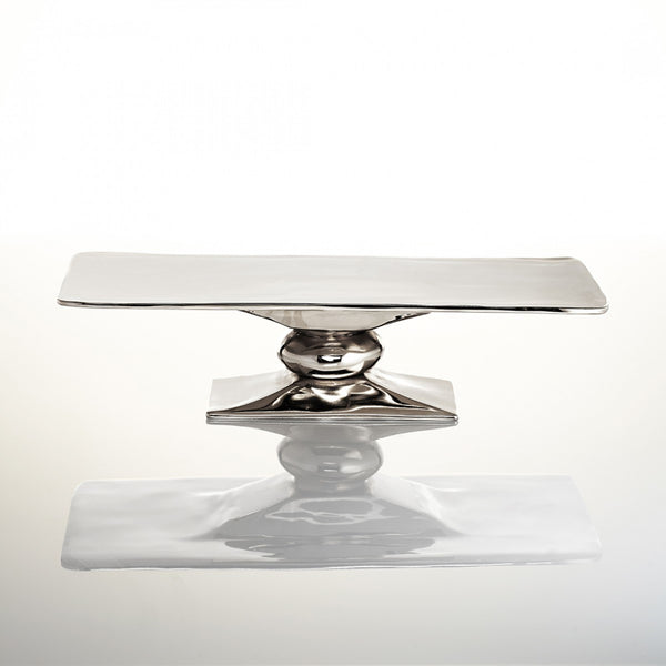 Lunares Rock Polished Rectangle Platter/Cakestand