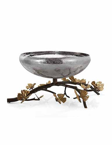 Butterfly Ginkgo Footed Centerpiece Bowl, Michael Aram - RSVP Style