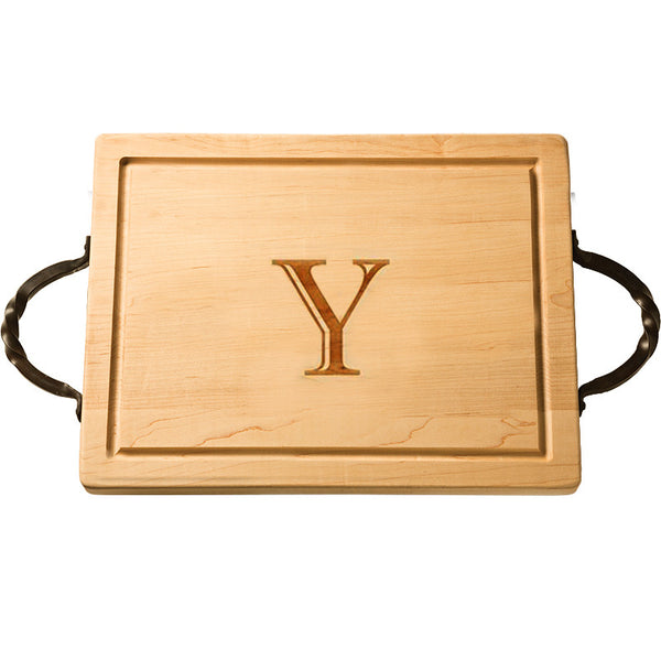 Personalized Rectangular Cutting Board with Handles  |  Large