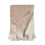 Dip Dye Curly Mohair Throw
