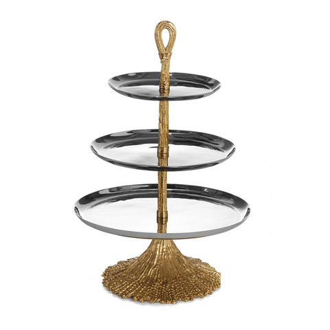 Wheat 3-Tier Etagere - RSVP Style