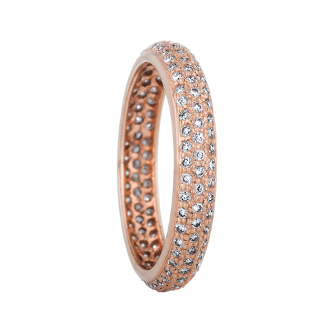 18k Rose Gold Eternity Band - RSVP Style