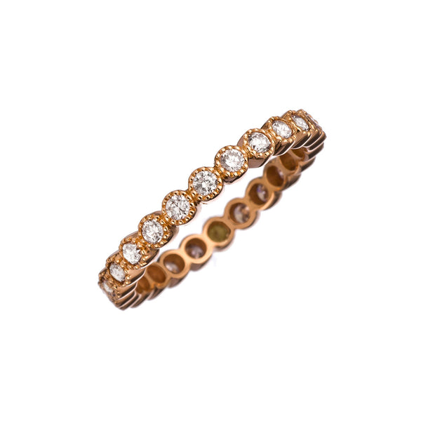 18k Rose Gold Bezel Band, Gianni Fine Jewelers - RSVP Style