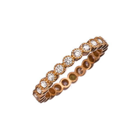 18k Rose Gold Bezel Band - RSVP Style
