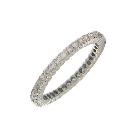 18K White Gold Diamond Eternity Band - RSVP Style