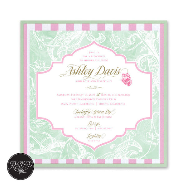 Whimsical Butterfly Bridal Shower Invitation