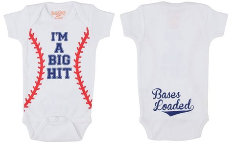 Big Hit Baseball Onesie