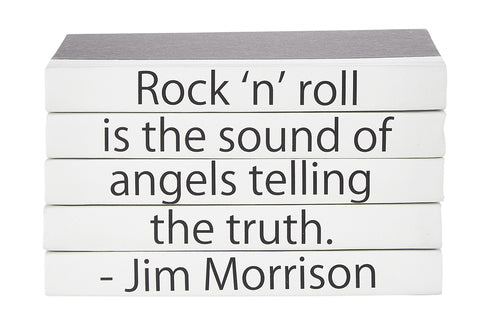 Quotation Stacking Books- Jim Morrison