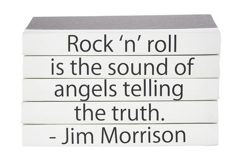 Quotation Stacking Books- Jim Morrison - RSVP Style