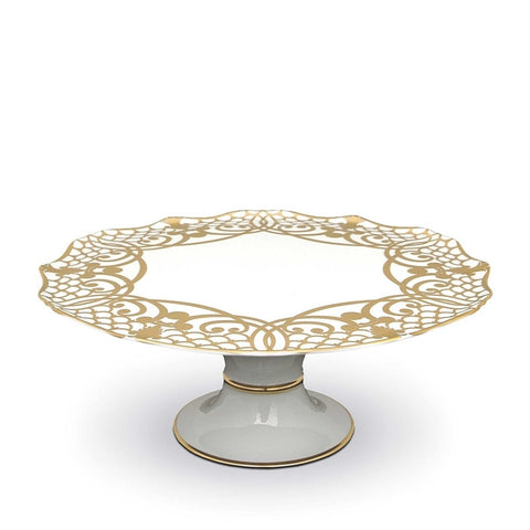 L'Objet  |  Alencon Gold Footed Cake Plate