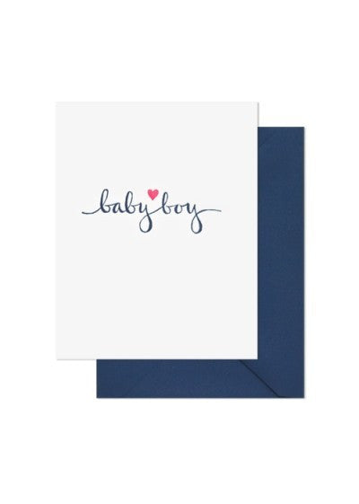 Baby Boy Heart Card, Sugar Paper - RSVP Style