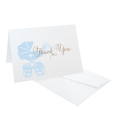 Baby Carriage Thank You Notes