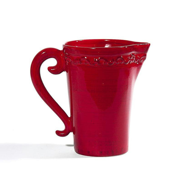 Baroque Red Pitcher, vendor-unknown - RSVP Style