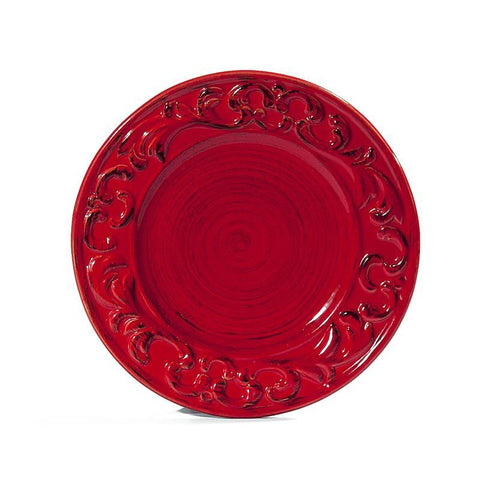 Baroque Red Salad Plate, vendor-unknown - RSVP Style