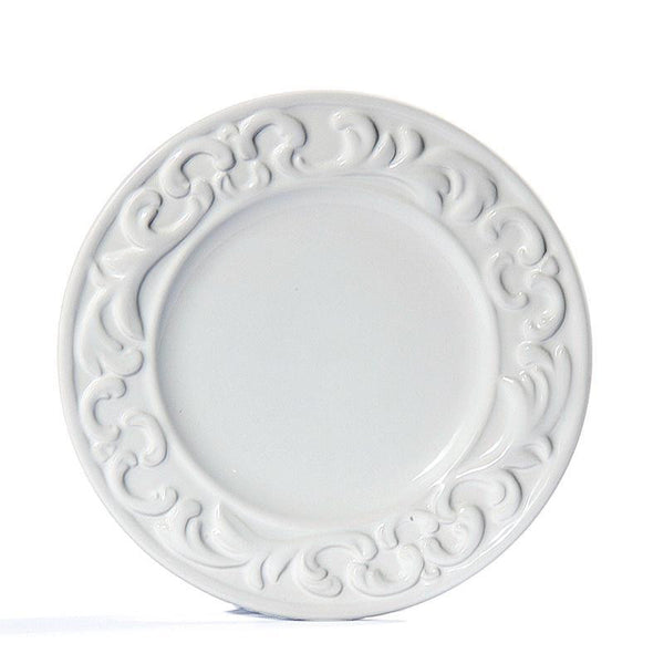 Baroque White Salad Plate, vendor-unknown - RSVP Style