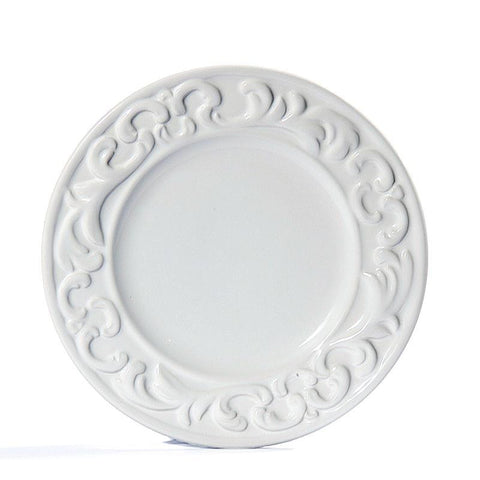 Baroque White Salad Plate - RSVP Style