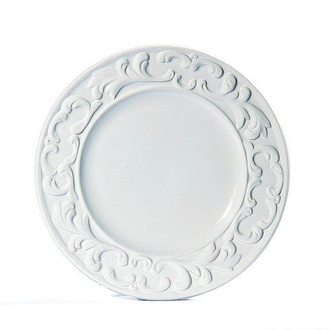 Baroque White Dinner Plate, vendor-unknown - RSVP Style