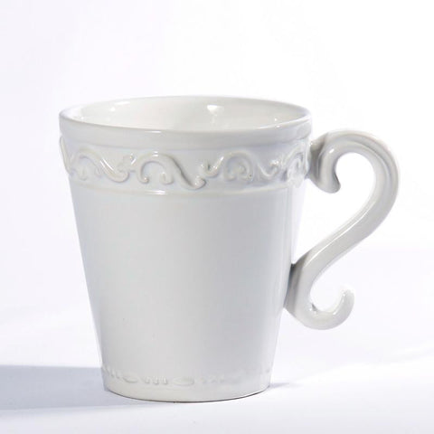 Baroque White Mug, vendor-unknown - RSVP Style