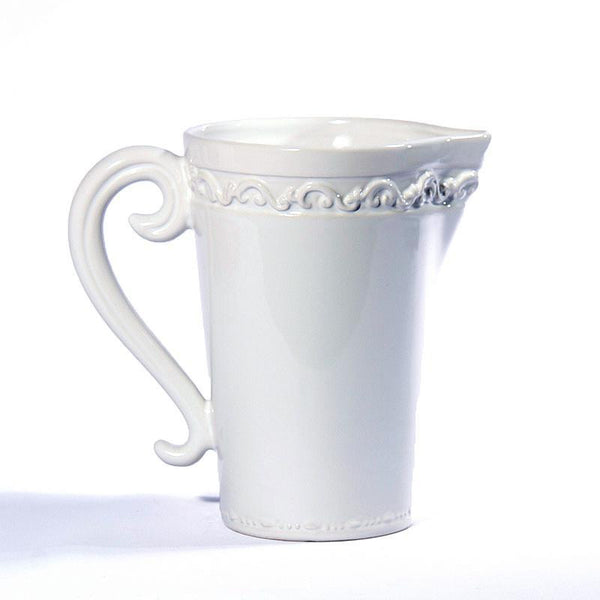 Baroque White Pitcher