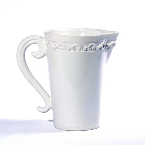 Baroque White Pitcher, vendor-unknown - RSVP Style