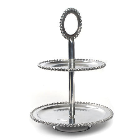 Beaded Two-Tier Serving Stand - RSVP Style