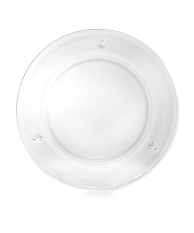 Napoleonic Bee Glass Dinner Plate - RSVP Style