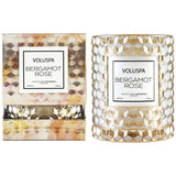 Bergamot Rose  ·  Icon Cloche Cover Candle, Voluspa - RSVP Style