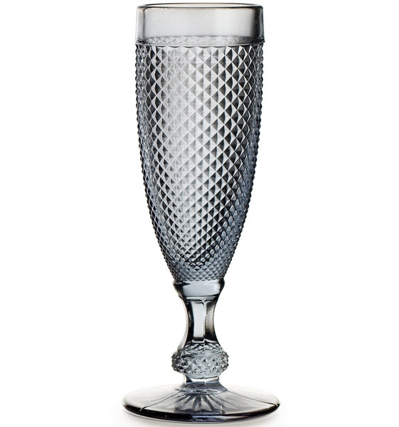 Bicos Grey Champagne Flute, vendor-unknown - RSVP Style