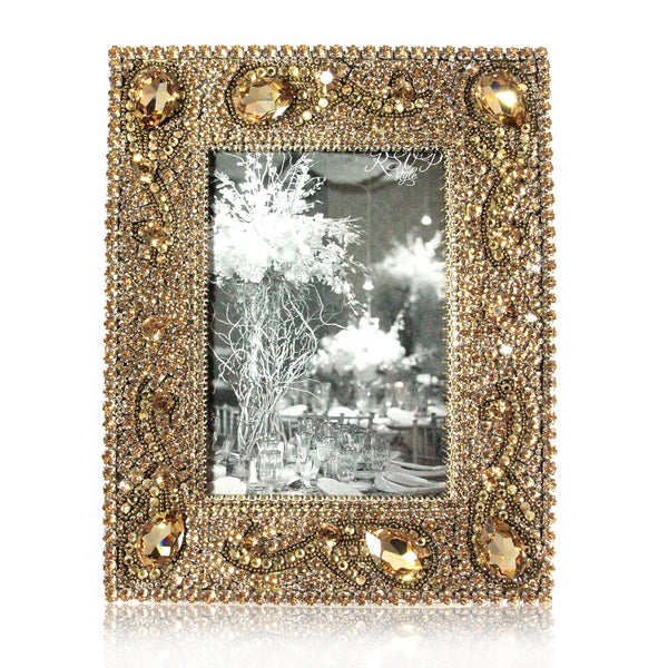 Cloutier Swarovski Crystal Frame in Gold