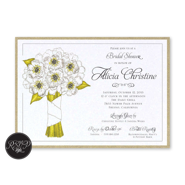 Bouquet Bridal Shower Invitation - RSVP Style
