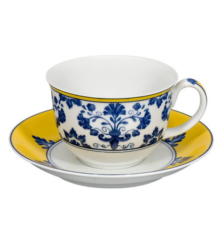 Castelo Branco Breakfast Cup & Saucer - RSVP Style