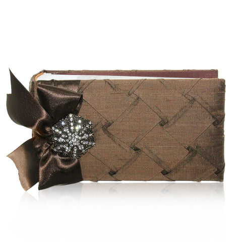 "4"" x 6"" Photo Album Bronze Weave - RSVP Style"