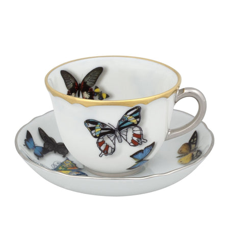 Butterfly Parade Coffee Cup & Saucer - RSVP Style