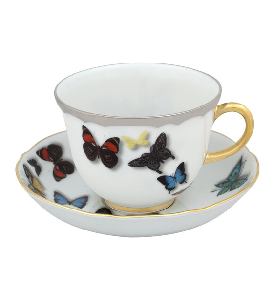 Butterfly Parade Tea Cup & Saucer, vendor-unknown - RSVP Style
