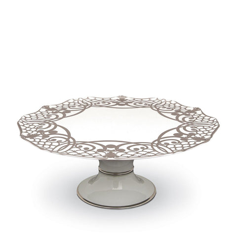 Alencon Silver Footed Cake Plate