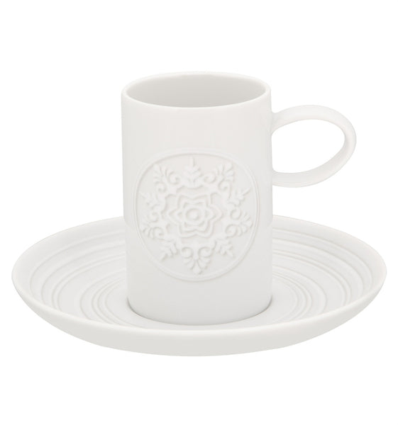 Ornament Coffee Cup & Saucer