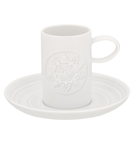 Ornament Coffee Cup & Saucer - RSVP Style