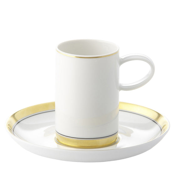 Domo Gold Coffee Cup & Saucer