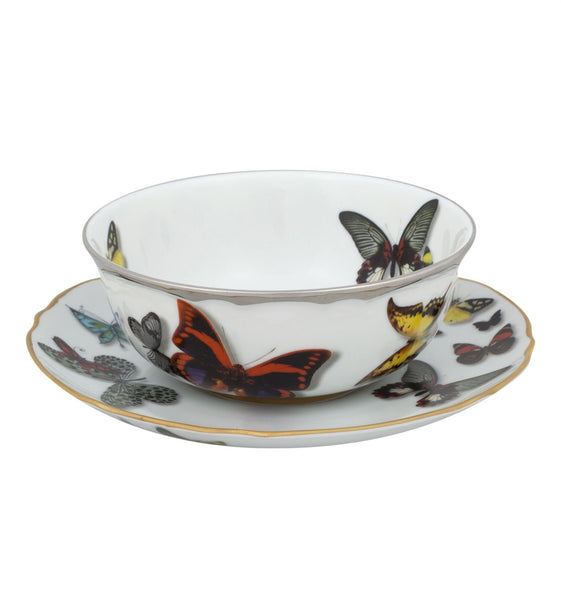 Butterfly Parade Consomme Cup & Saucer, vendor-unknown - RSVP Style