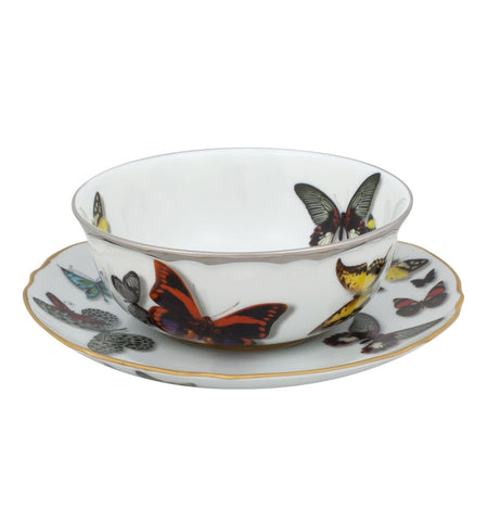 Butterfly Parade Consomme Cup & Saucer - RSVP Style