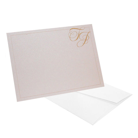 Corner Initials Personalized Stationery - RSVP Style