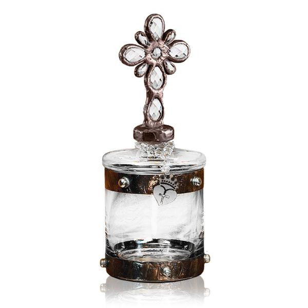 Cross Glass Canister