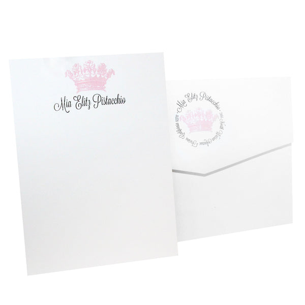 Crown Personalized Stationery