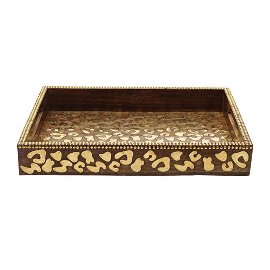 Cheetah Wood Tray