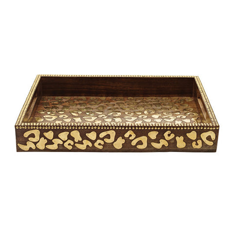 Cheetah Wood Tray - RSVP Style
